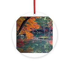 Kyoto Autumn Ornament (Round)