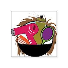 "Hair Salon Products Square Sticker 3"" x 3"""