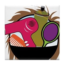 Hair Salon Products Tile Coaster