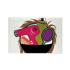 Hair Salon Products Rectangle Magnet