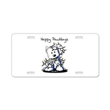 Pawliday Westie Aluminum License Plate
