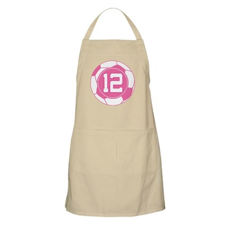 Soccer Number 12 Custom Player Apron