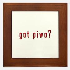 got piwo? Framed Tile