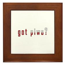 got piwo? Flag Framed Tile