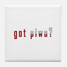 got piwo? Flag Tile Coaster