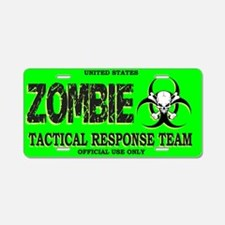 Funny Zombie Aluminum License Plate