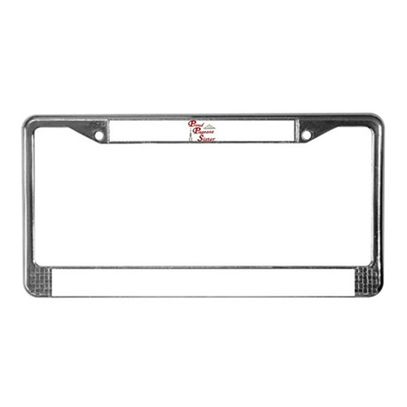 Pageant Sister License Plate Frame