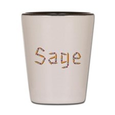 Sage Pencils Shot Glass