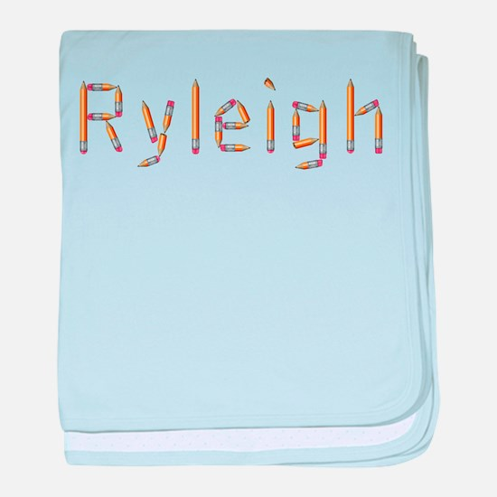 Ryleigh Pencils baby blanket