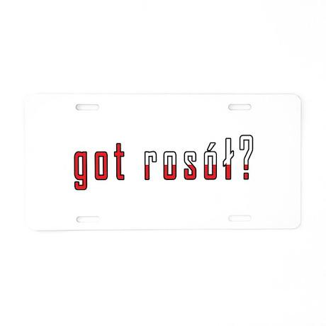 got rosol? Flag Aluminum License Plate