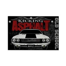 Kicking Asphalt - Challenger Rectangle Magnet