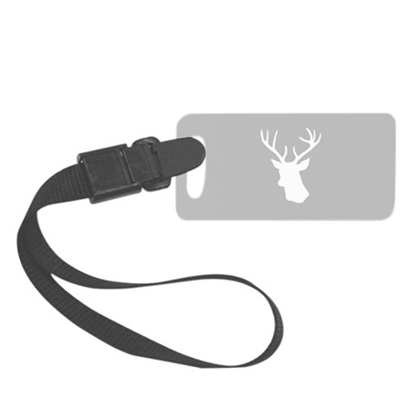 White stag deer head Small Luggage Tag