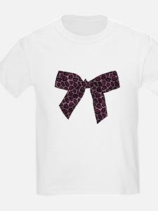 Pink Leopard Print Bow T-Shirt