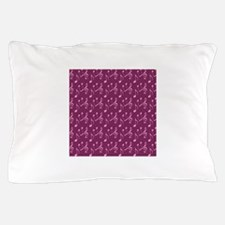 Pink Musical Notes Pillow Case