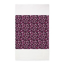 Hot Pink Leopard Print 3'x5' Area Rug