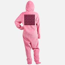 Hot Pink Leopard Print Footed Pajamas