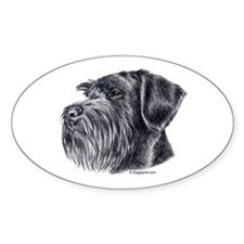 Giant Schnauzer Oval Decal
