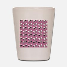 Pink Skull Print Shot Glass