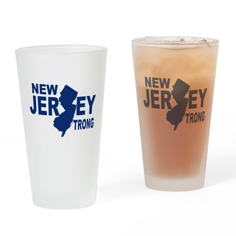 New jersey Strong Drinking Glass