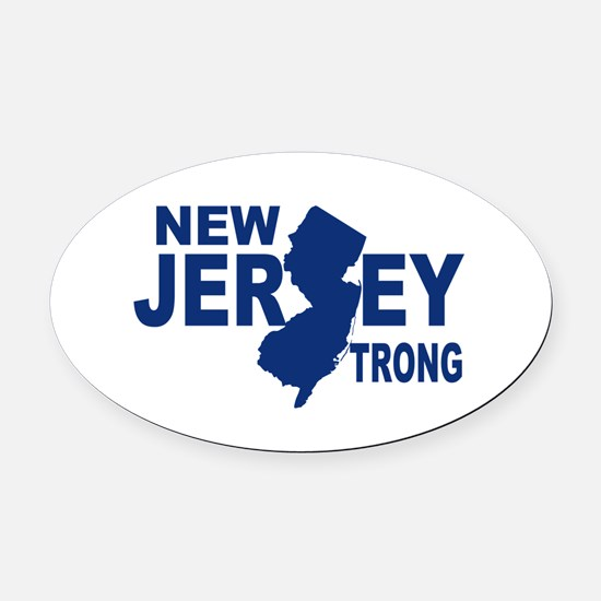 New jersey Strong Oval Car Magnet