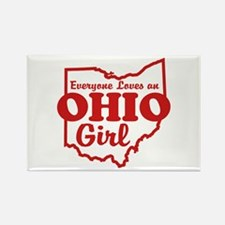Everyone Loves an Ohio Girl Rectangle Magnet