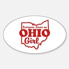 Everyone Loves an Ohio Girl Oval Decal