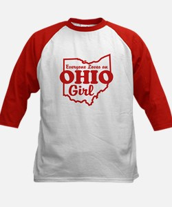 Everyone Loves an Ohio Girl Kids Baseball Jersey