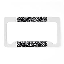 Black Sparkle Print License Plate Holder