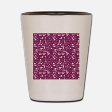 Pink Sparkle Print Shot Glass