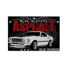 Kicking Asphalt - Mustang Rectangle Magnet