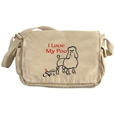 I Love My Poo Messenger Bag