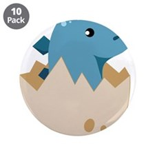 "Baby Stegoceras Dinosaur 3.5"" Button (10 pack)"