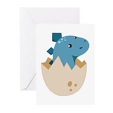 Baby Stegoceras Dinosaur Greeting Cards (Pk of 10)