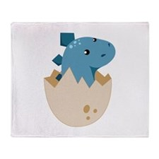 Baby Stegoceras Dinosaur Throw Blanket