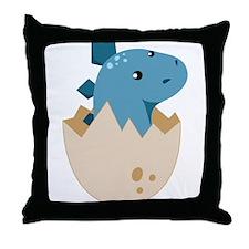 Baby Stegoceras Dinosaur Throw Pillow