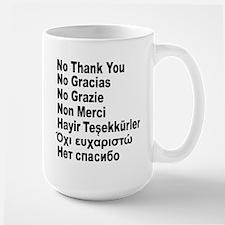 NO THANK YOU in 7 languages Mug