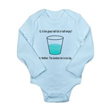 Kanban Water Glass Long Sleeve Infant Bodysuit