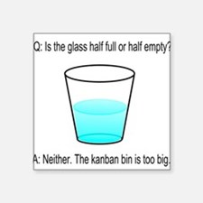 "Kanban Water Glass Square Sticker 3"" x 3"""