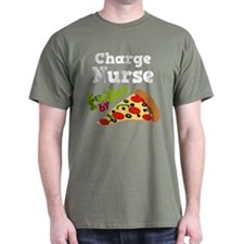 Charge Nurse Pizza T-Shirt