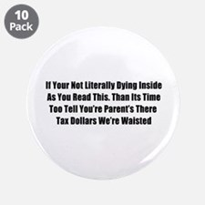 "Bad Grammar 3.5"" Button (10 pack)"