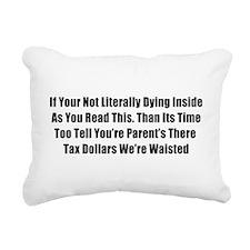 Bad Grammar Rectangular Canvas Pillow