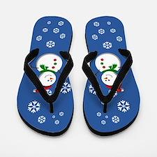 Friendly Snowmen Flip Flops