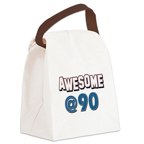 Awesome at 90 Canvas Lunch Bag
