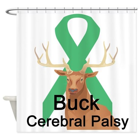 buck-cerebral-palsy.png Shower Curtain