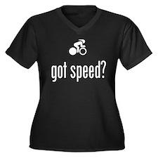 Bicycle Racer Women's Plus Size V-Neck Dark T-Shir