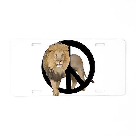 peace Lion Aluminum License Plate