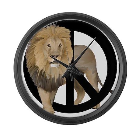 peace Lion Large Wall Clock