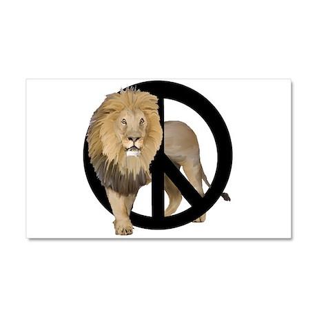 peace Lion Car Magnet 20 x 12