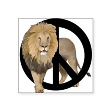 "peace Lion Square Sticker 3"" x 3"""