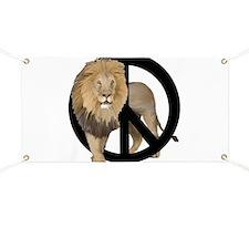peace Lion Banner